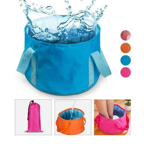Portable Folding Washbasin Bucket Foldable Camping Water Pot Bowl Wash Basin Z