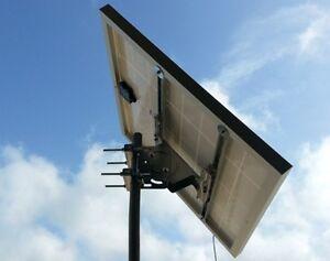 Supporto testapalo per pannello solare fotovoltaico max 180w staffa