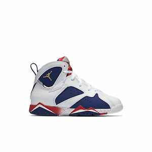 6a9c041c195 Air Jordan 7 Retro Olympic Tinker Alternate Little Kid Shoes White ...