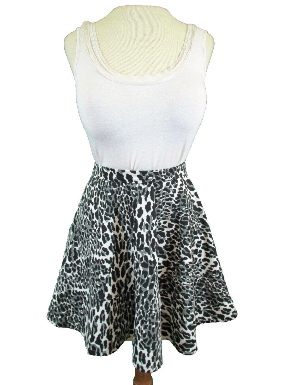Amanda Uprichard Clarence Circle Skirt (S)  148 Cheetah Print NEW