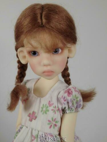 """MOHAIR BRAIDS CUSTOM WIG FITS VINTAGE AND MODERN DOLLS  SIZE 6/"""""""