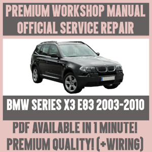 workshop manual service repair guide for bmw x3 e83 2003 2010 rh ebay co uk bmw e83 radio wiring diagram bmw x3 e83 wiring diagram