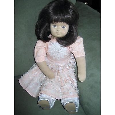 Deko Puppe Schafwolle, reine Handarbeit, Shabby, Vintage, m. Kunsthaarperücke