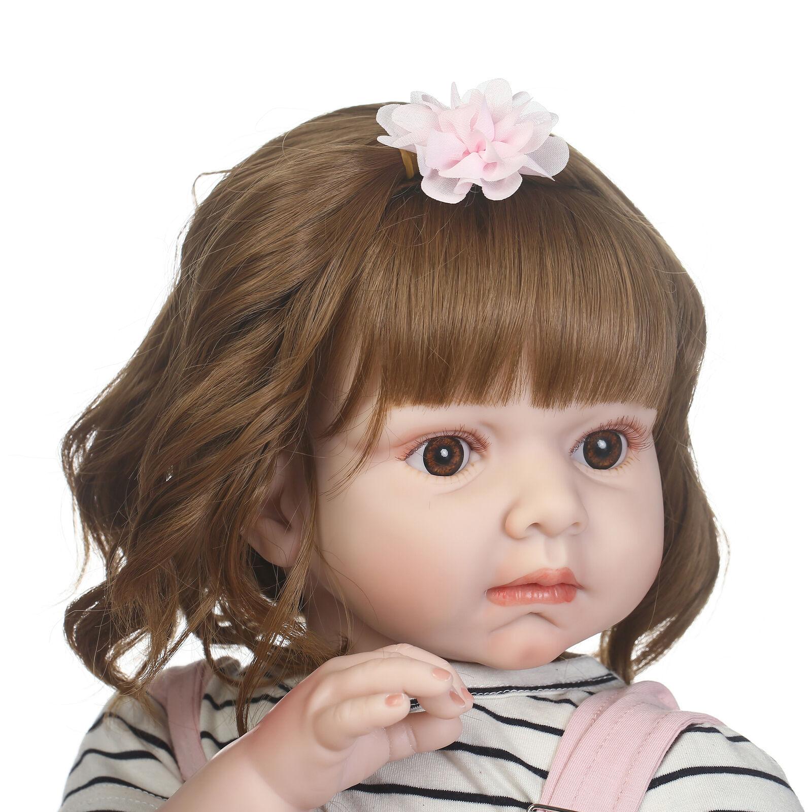 Niño Muñecas Reborn Bebé Niñas Muñeca de vinilo suave realista del Niño Infantil Regalos 28