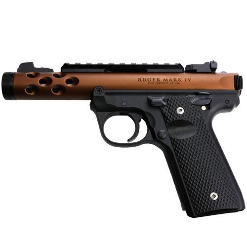 Ruger Mark IV 22//45 Lite Grips Black G10 Super Aggressive Fits 22 45 Lite Gen 4