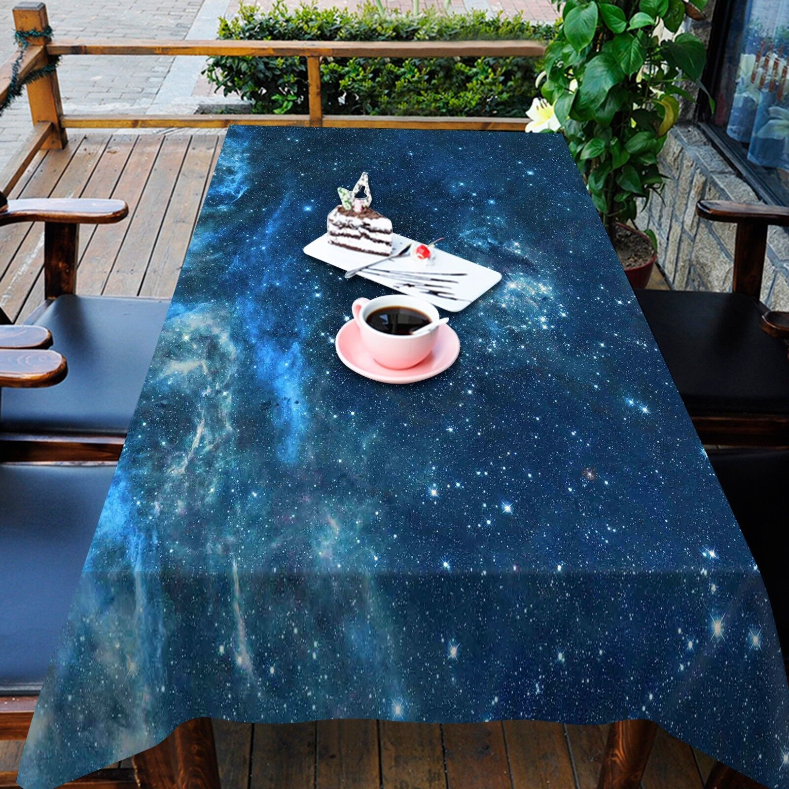 3D Sky Stars 5 Tablecloth Table Cover Cloth Birthday Party AJ WALLPAPER UK Lemon