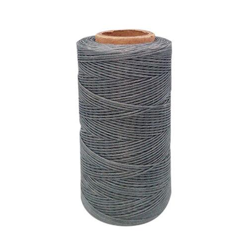 Flat 0.8mm Craft Cord String Waxed Thread 284 Yard Multicolor DIY Sewing Repair