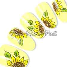 Nail Art Water Slide Decals Transfers Wraps Stickers Sunflower Helianthus G068