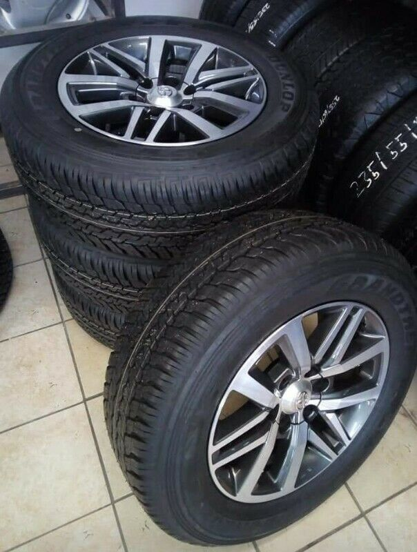 "18"" Toyota Hilux/Fortuner mags with brand new 265/60/18 Dunlop Grandtrek AT set for R14500."