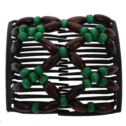Trend African hairclip pelo paréntesis haargreifer Butterfly madera diseño verde