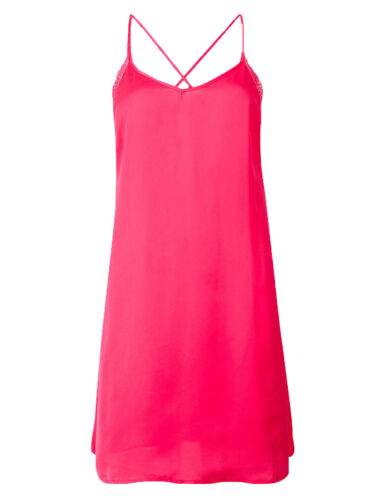 P14 Ex Marks and Spencer Rosie Autograph Satin Strappy Chemise Nightdress Pink