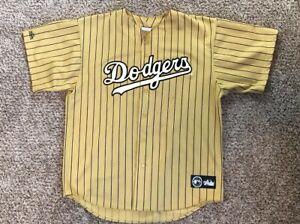 Rare Majestic Gold Pinstripe MLB LA Los Angeles Dodgers Baseball ... ec68b80b73a