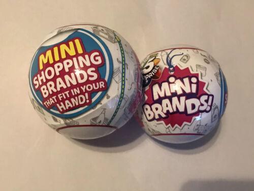 NEW Zuru 5 Surprise Mini Brands Sealed Balls Lot Of 2