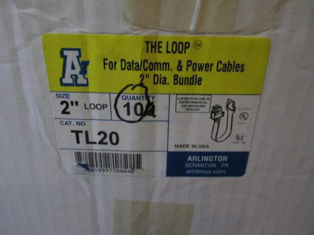"Arlington TL20 Data Communications & Power Cables 2"" Diameter LOOP - Lot of 10"