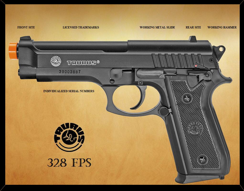 fb621191e Licensed Taurus Pt92 Metal Slide Spring Airsoft Pistol Gun 328 FPS ...