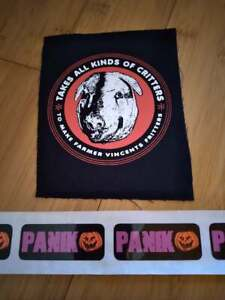 """Motel Hell Farmer Vincent Pig 6"""" Sew-on Fabric Patch"""