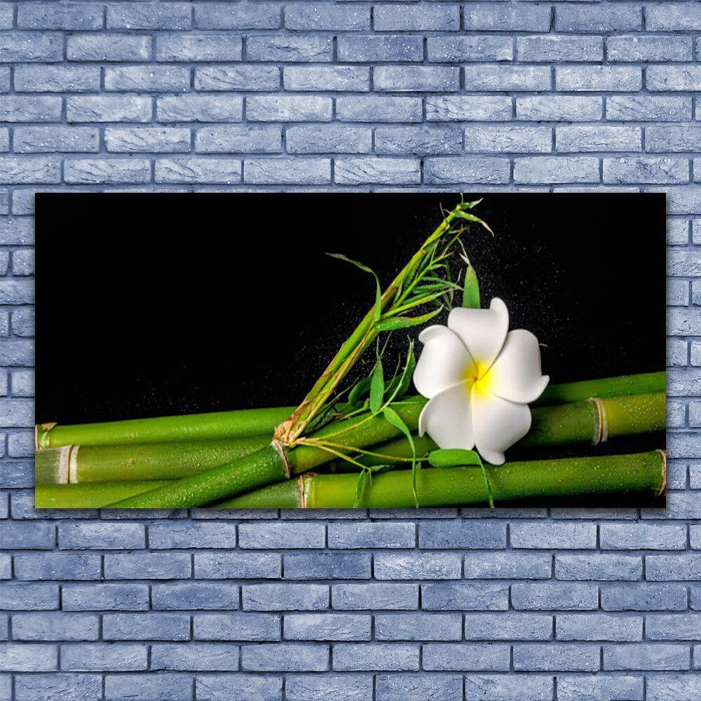 Glas Drucken Wand Kunst 140x70 Image Bild Bamboo Flower Floral