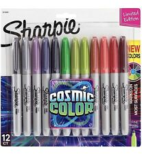 Sharpie Cosmic Color 12 Pack Permanent Markers Assorted Fine Point New Set Pen