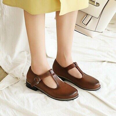 Mary Jane Flats Women/'s Shoes Pumps Fall Round Toe Retro Retro British Style Hot