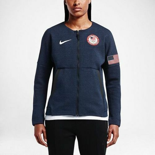 e1f747239bab Nike Women s Team USA 2016 Authentic Olympics Tech Fleece Red White Blue Sz  L for sale online