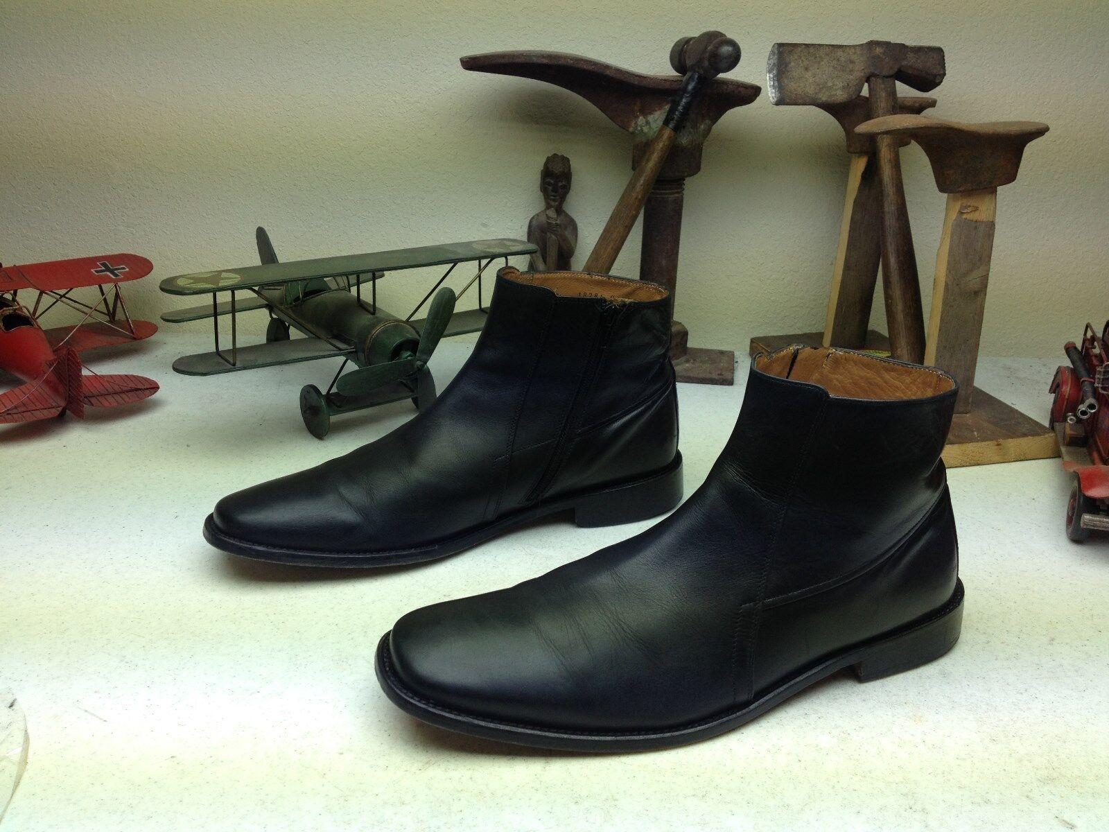 FLORSHEIM schwarz LEATHER LEATHER LEATHER ZIP UP BEATLE BOSS Stiefel Größe 11 D 26801a