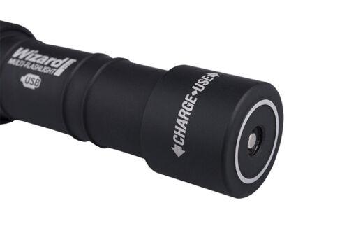 New Armytek Wizard Magnet USB v3 Cree XP-L 1250 Lumens LED Headlight With 18650