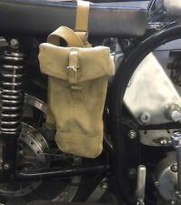 1950s Khaki Motorcycle Tool Or Spares Carrier Army Tool Panniers Vintage
