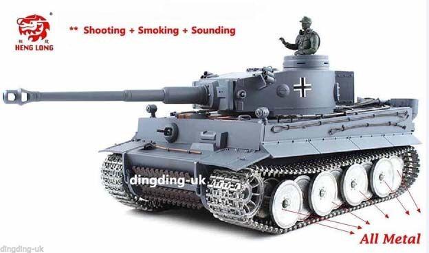 Heng Long Radio Remote Control RC German Tiger Tank Platinum Version 1 16