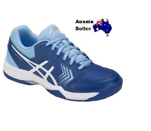 aed7d2433b0 Details about NEW! ASICS WOMENS GEL DEDICATE 5 HARDCOURT TENNIS COURT SHOE  BLUE E757Y 400
