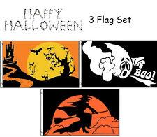 3x5 Happy Halloween 3 Flag Wholesale Set #9 3'x5' House Banner Grommets