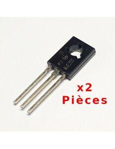 X2 Pcs Transistor MJE350, 300V 0.5A PNP TO126 4421Z
