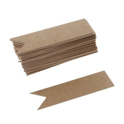 50pcs Pack Blank Paper Card Label Gift Tags Bookmark Note DIY Favor