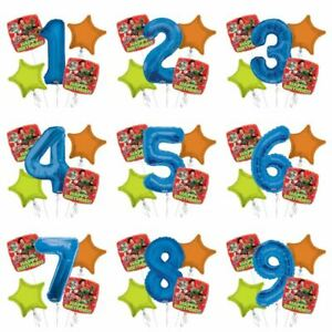 Disney-Toy-Story-5pc-Bouquet-Custom-Age-Birthday-Foil-Balloons-Decorations