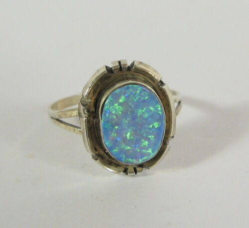 Navajo Opal Sterling Silver .925 Ring Native American USA Jewelry Southwestern