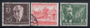 Berlino 1954 Mi. 115-117 Usato 100% Reuter, Mergenthaler