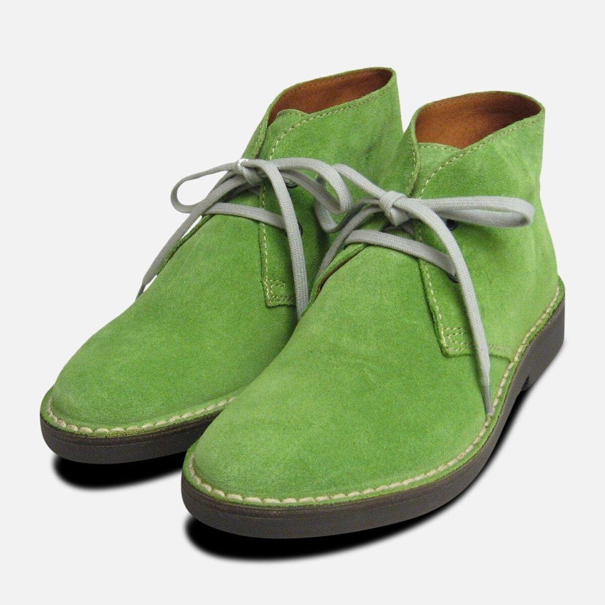 Lime Grün Suede Italian Arthur Knight Desert Stiefel