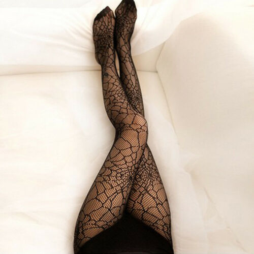 LX/_ Womens Spider Web Tights Halloween Witch Fancy Dress Pantyhose Stockings R