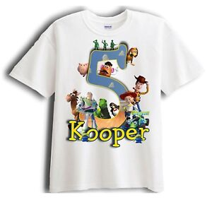 Image Is Loading Toy Story Personalized Birthday T Shirt Party Favor