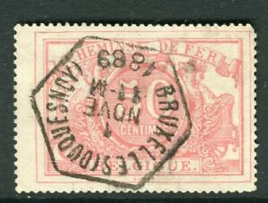 Belgium 1882 Railway Parcel Stamp Fine Used 50c Value Ebay