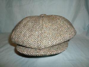 GREEN HARRIS TWEED HAT BAKER BOY NEWSBOY GATSBY VICTORIAN PEAKY BLINDERS CAP