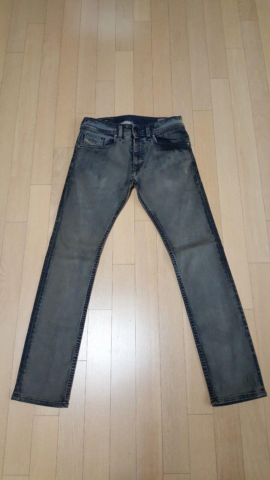 Diesel Thavar  820d 100% Auténtico Delgado Jeans Ajustados 29x30  saludable