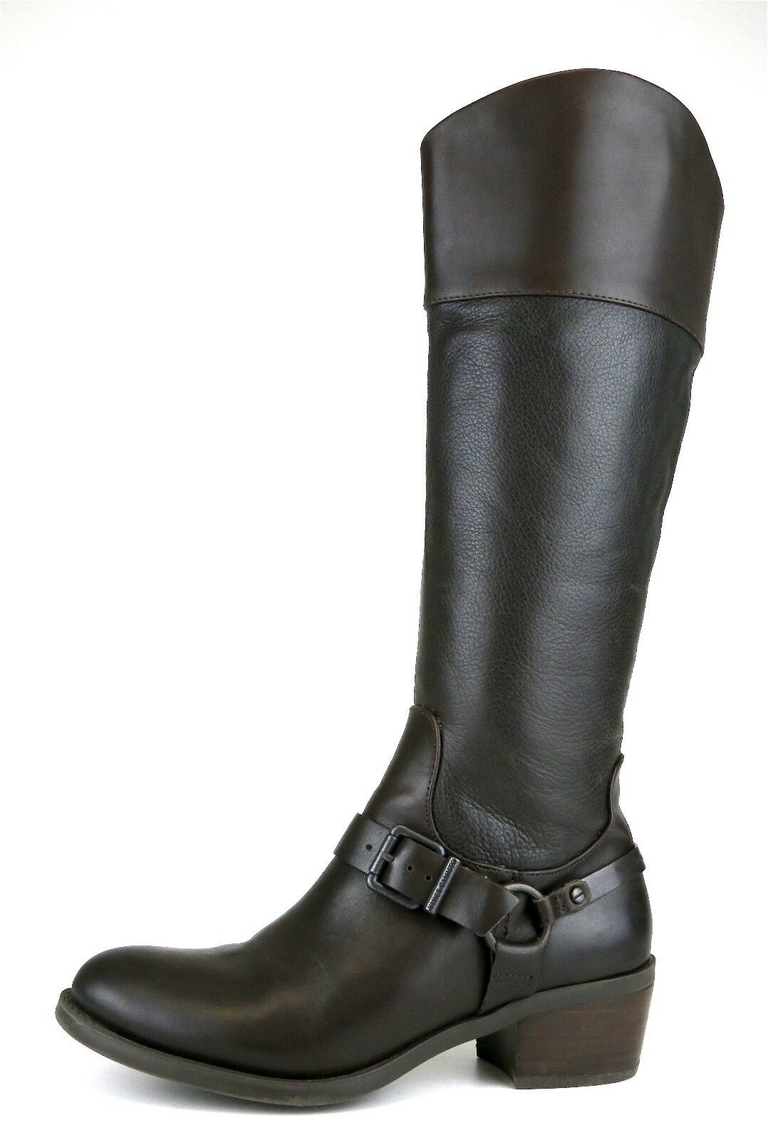 Vince Camuto Brunah Tall Leather Boot Brown Women Sz 6.5 M 5106 *