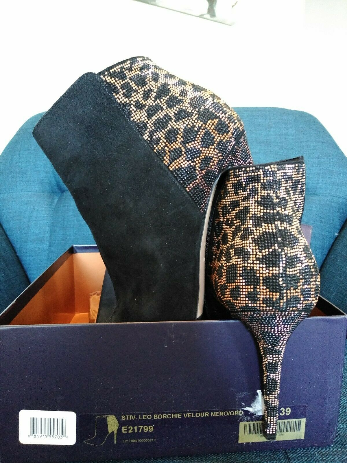 Le silla boots black suede suede suede with beads size 39 aaffac