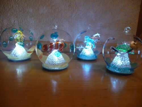 Farbwechsel und warmweiß Lumida Casa Glaskugeln handgefertigt Timer
