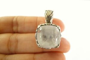 Rainbow-Moonstone-Solitaire-Ornate-925-Sterling-Silver-Enhancer-Bail-Pendant