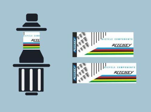RITCHEY Bicycle Hub Decal Road MTB Sticker Adhesive Set Vinyl Sheet 2 Pcs
