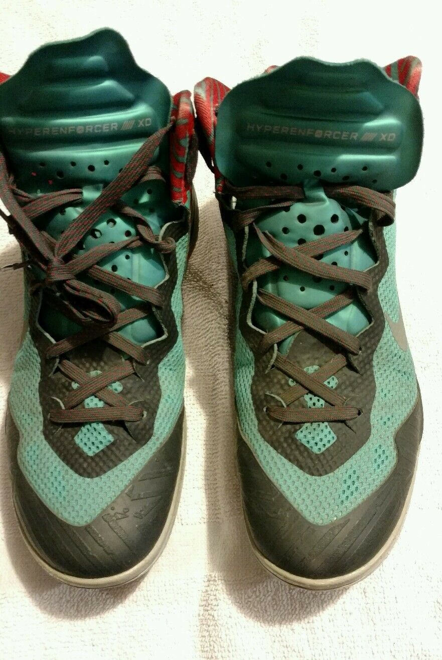 Nike Zoom HyperEnforcer XD Basketball Green / Black Mens Sz 9 Used Great discount