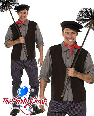 VictorianBURT edwardian Book Day BLACK CHIMNEY SWEEP  5Piece Costume ADULT SIZES