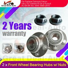 2 for Ford Falcon Brand New Front Wheel Bearing Hubs AU BA BF & Territory +Nuts