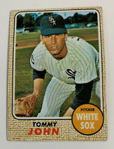 1968 Tommy John # 72 Chicago White Sox Topps Baseball Card